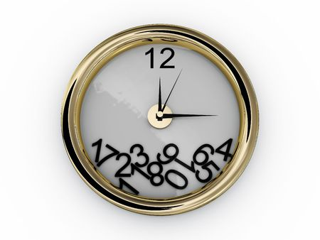 Clock with numbers have fallen. 3D Stock Photo - 6677016