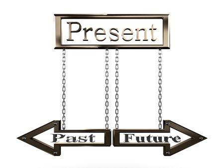 Sign Present Past Future.3D Stock Photo - 6723718