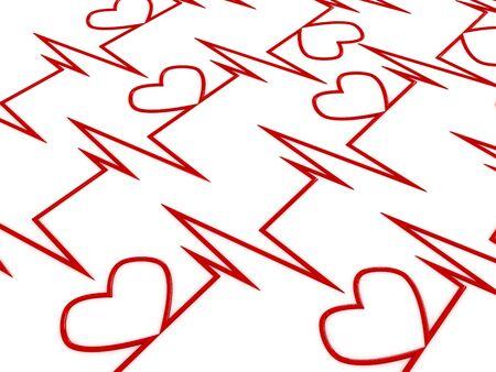 Cardiogram. 3D Stock Photo - 6723737