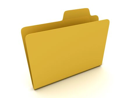 File folder stack on white background. 3D Stock Photo - 6723668