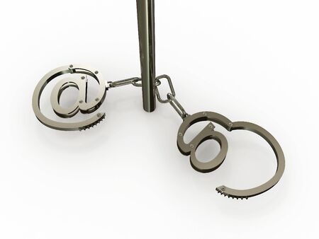 Handcuffs with Stock Photo - 6723801