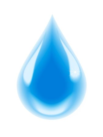A drop of clean water Stock Photo