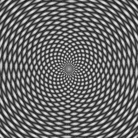hypnotist: Optical illusion, black and white
