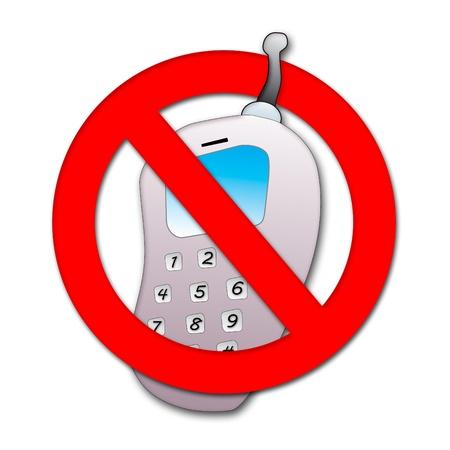 Ban on mobile phone Stock Photo - 9870053