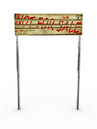 Sign for sale isolated on white background photo
