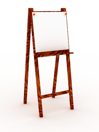 daubed: Easel isolated on white background