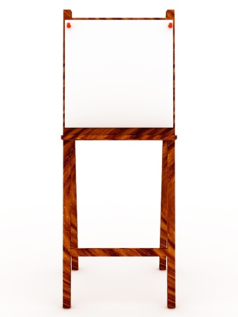 daubed: Easel with blank isolated on white background