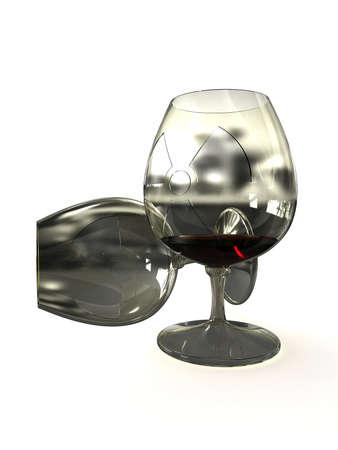 Glass of liquid radioactive isolated on white background Stock Photo - 9870073