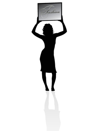 Silhouette of a woman photo