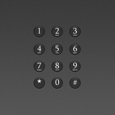 Button on the phone or telephone keypad photo