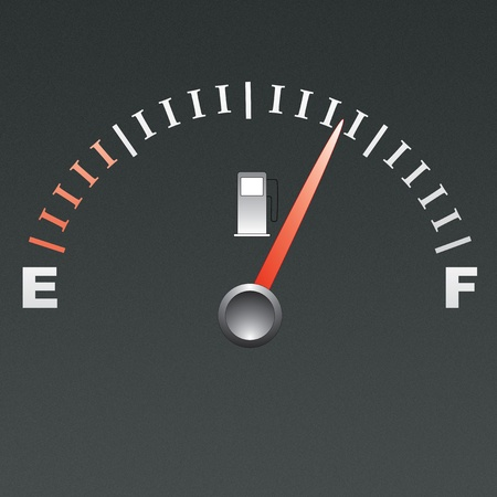 Fuel gauge isolated on grey background