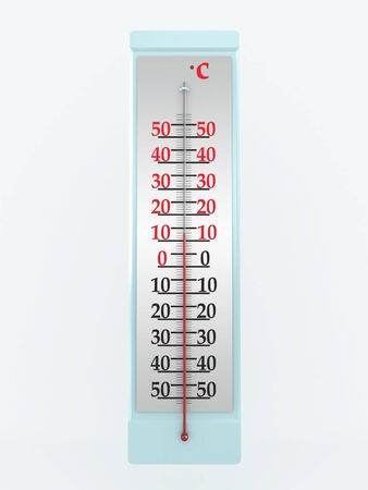 Thermometer isolated on white background. 3D image photo