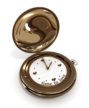timekeeping: Clock time to love.  3D image