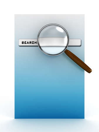 Search on the internet. 3D image photo