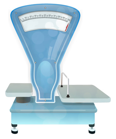 Vintage weighing scales - Stock Image