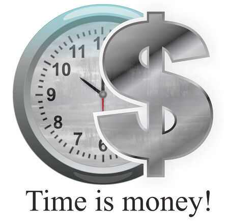 Time is money - Stock Image