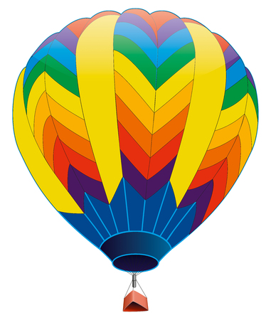 Hot air balloon - Stock Image
