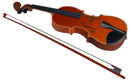 Violin on white - Stock Image Stock Photo