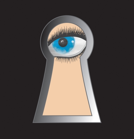 Peek through keyhole - Stock Image photo