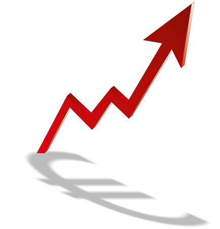 Growth Euro Chart - Stock Image