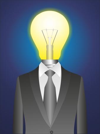Got idea. Lamp and costume - Stock Image