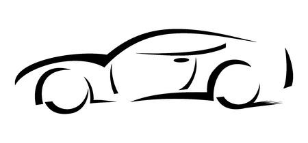 Racing car - Illustration