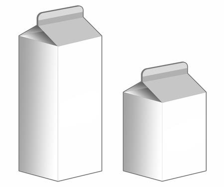 Milk Carton box on white - Stock Image Stock Photo