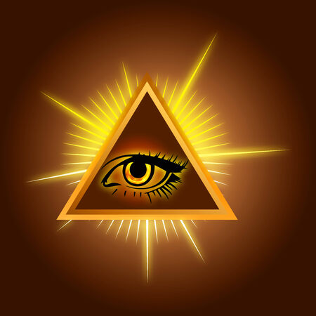 freemasons: All-seeing eye - Color Stock Illustration Stock Photo