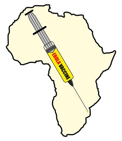 Vaccine against Ebola - Stock Image