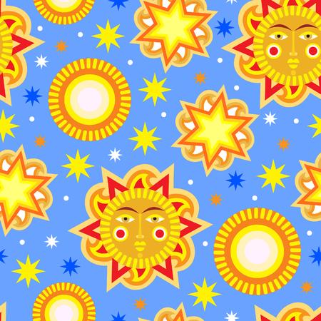 aureole: Summer seamless pattern background. Vector illustration