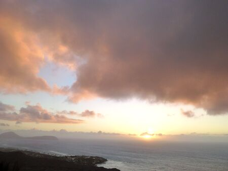 diamond head: Seeing the sunrise from diamond head