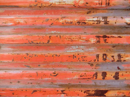 red wall: Red rusty wall