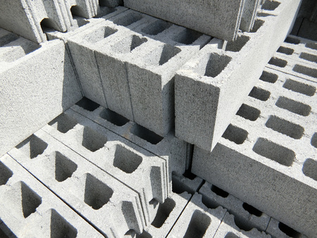 Concrete Blocks Stock Photo