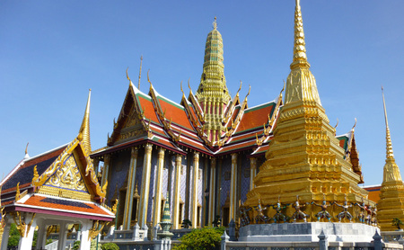 in wat phra kaew: Wat Phra Kaew Stock Photo