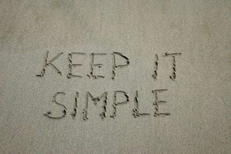 Keep it simple. Inspiration and motivation quote keep it simple with red leaf background