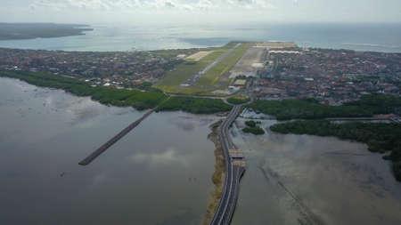 Bali Mandara Toll Road. Aerial view. Bali island, Indonesia