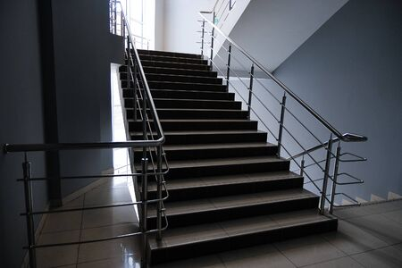 An Empty Staircase In A College, School, Office Building, Or Shopping Center.