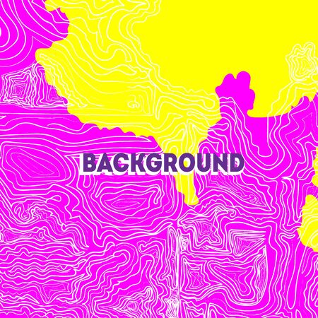 Backgrond Yellow-Pink Wave. Hand drawing wave pattern.