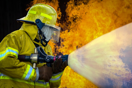 The Employees Annual training Fire fighting Banco de Imagens - 43542210