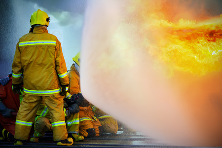 Firefighters training, The Employees Annual training Fire fighting