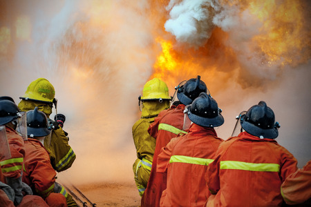 fireman helmet: Firefighters training, The Employees Annual training Fire fighting