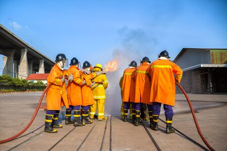 firefighter: Firefighters training, The Employees Annual training Fire fighting