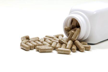 herbal medicine, a herbal healer, alternative medicine, isolated on white background