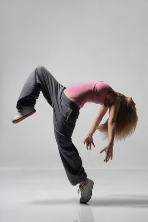 modern dance: cool suchen M�dchen T�nze Jazz Modern Dance Lizenzfreie Bilder