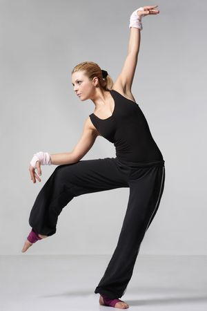 cool looking girl dances jazz modern dance Stock Photo - 3029747