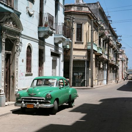 varadero: the car is parked in old havana downtown