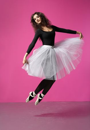 cute, young and beautiful ballet dancer posing Stock Photo - 3029891