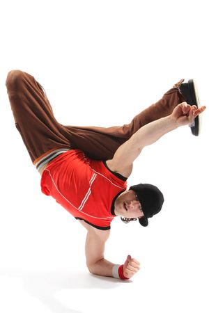 hip-hop style dancer posing on a white background Stock Photo - 3029740