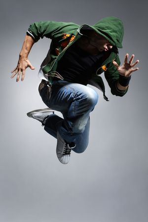 difficulty: cool looking dancer makes a difficult jump