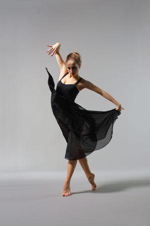 posing ballerina Stock Photo